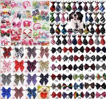 100pc/lot Hot sale Colorful Pet Dog puppy Tie Bow Ties Cat Neckties Dog Grooming Supplies for small middle big dog 4 model Y166(China)