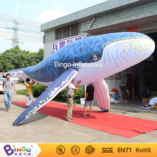 8 Meters Giant Inflatable Blue Whale for Advertising, Inflatable Humpback Whale Repica for Event/Party/Show