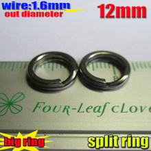 2015new fishing split rings with the best stainless steel materials size:1.6mm*12MM,quantity:50pcs/lot(China)