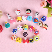 100pcs/lot Cartoon USB Cable Earphone Protector headphones line saver For Mobile phone charging line data cable protection(China)