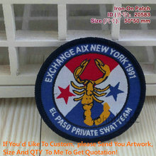 "2016 Sale 20583 Exchange Aix New York 1991 El Pasd Private Swat Team Embroidery Patches ""accept Customized Patch"" Iron On Patch(China)"