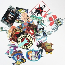 23Pcs/lot Western Funny Anime Futurama Stickers For Snowboard Car Laptop Luggage Skateboard Motorcycle Decal Kids Toy Sticker