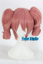Best Sellig Inu x Boku SS Karuta Roromiya Cosplay Wig Two Ponytails Long Straight Pink Hair Wigs Perruque Natural Hair