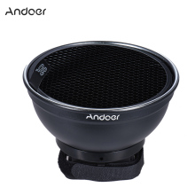 "Andoer 5.9"" (15cm) Silver Beauty Dish Diffuser w/ 30 Degree Honeycomb for Canon Nikon Photography On-camera Flash Speedlite"