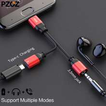 pzoz usb type c to 3.55mm jack audio splitter headphone cable Earphone aux 3.5 Adapter charger usb-c for xiaomi mi6 mix2 huawei(China)
