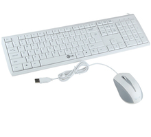 V100 Super Slim Wired Multimedia Keyboard and Mouse Combo Set for Desktop Laptop  English Layout