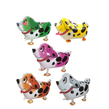 50 PCS/lot wholesales cartoon pet animals walk dalmatians balloons birthday party celebration decoration supplies Children's toy(China)