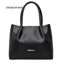Micom Women Braid Bag Swing Hobo Shoulder Handbags Fashion Black/White/Red/Blue Pu Leather Tote Bags Plaited Bolsas Femininas