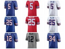 Men's Thurman Thomas LeSean McCoy Jim Kelly Tyrod Taylor jerseys(China)