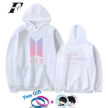LUCKYFRIDAYF BTS Hoodie Sweatshirt Fashion Print LOVE YOURSELF Winter High Quality Oversized Hoodie Long Funny Design Hip Hop(China)