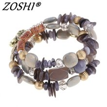 Buy Hot Woman Beach Jewelry 2017 Bohemian Shell Natural Stone Bracelet Multilayer Beads Strand bracelets & bangles Pulseras Mujer for $2.30 in AliExpress store