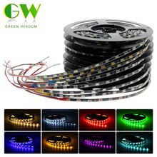 Narrow Side 5730 LED Strip IP65 Waterproof Flexible Light DC12V 5.7mm / 4.7mm Width Black / White PCB 60LEDs/M 5M(China)