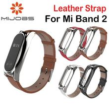 Buy PU Leather Strap Xiaomi Mi band 2 Wrist Strap Miband 2 Smart Bracelet Screwless Stainless Steel Metal Frame Leather Belt for $5.49 in AliExpress store