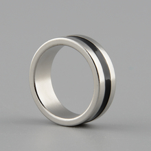 Hot New Strong Magnetic Magic Ring Silver+Black Coin Magician Trick Props Show Tool Inner Dia 20mm Size L(China)