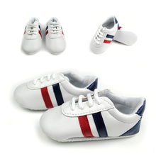 1pair White Children Kids Shoes Soft-soled Baby First Walker Newborn Infant Boys Shoes Sapato Infantil Sneakers -- ZYS43 PT15