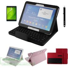 3in1 For Samsung Galaxy Tab A 10.1 2016 T580 T585 T580N T585N Removable Wireless Bluetooth Keyboard Case Cover +  Stylus Pen