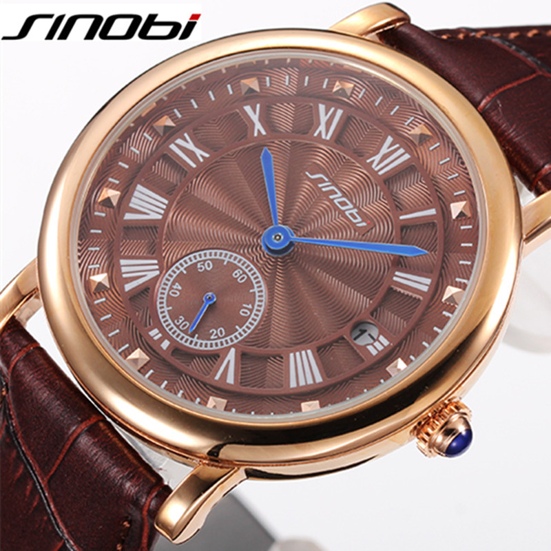 SINOBI Designer Casual Sport Quartz Watches Mens Watches Top Brand Luxury Watch Men Business Wristwatch Clock Male Reloj Hombre<br>
