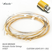 A1027 Acoustic Guitar Strings Ultra Thin Coating 011-052 80/20 Bronze Custom Light Wound Musical Instruments 1 Sets(China)