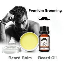 Lanthome Premium Grooming Beard Oil & Moustache Wax, Beard Balm Organic Beard Conditioner Leave in Styling aftershave for men