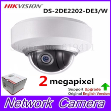 English Version MINI PTZ Dome DS-2DE2202-DE3/W Network MINI PTZ Dome Camera 2.0 megapixel POE IP Camera
