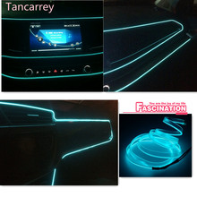 car styling Luminous decorative strip for alfa romeo qashqai ford focus 2 citroen c4 mercedes cla mazda 3 hyundai Accessories
