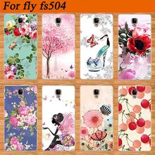 For Fly FS504  fs504 Cirrus 2 SOFT TPU Cover Case Newest Patterns Arrival Popular Colored Printing For FLY FS 504 tpu Case Cover