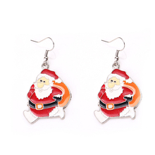 New 2016 Fashion Hollow snowman-shaped alloy earring Christmas Earrings for women style earrings for women gift holesale(China)