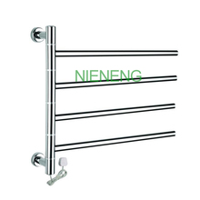 Low Freight Rotatable Stainless Steel Electric Wall Mounted heated Towel Rail and Towel Racks Towel Warmer, 50W(China)