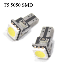 30pcs Car license plate light T5 12V Car Light Source Circuit Board Interior Lamp T5 5050 SMD LED car width lamp(China)