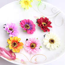 New Bohemia Summer Girls Headwear Chrysanthemum Kids Hairpins Flower Hair Accessories Daisy Princess Hair Clip Barrettes