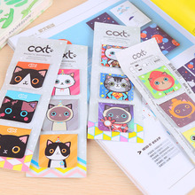 3pcs/lot Cute Kawaii Magnetic Paper Bookmark Lovely Cartoon Cat Book Markers For Kids Gift Korean Stationery Free Shipping 3820