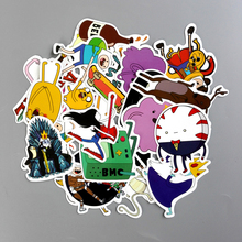 TD ZW 25 Pieces/Lot American Drama Adventure Time Funny Anime Sticker Decal For Car Laptop Bicycle Notebook Waterproof Stickers(China)