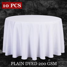 10PCS/LOT Wholesale Polyester Round Tablecloth For Wedding Hotel Decor White Table Cloth Square Table Linen Dining Table Cover