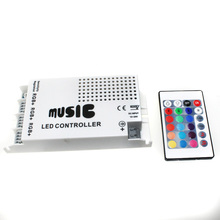 C24 12-24V 24 Keys Wireless IR Remote Control LED Music Sound Control RGB led Controller Dimmer for RGB LED Strips