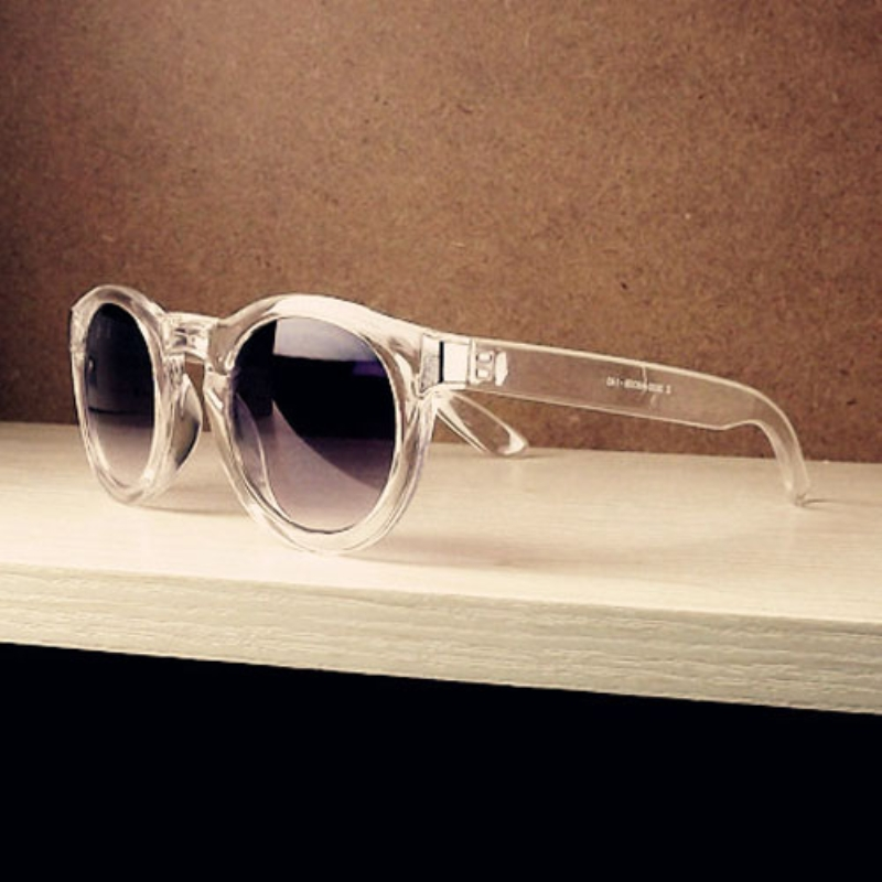 Sun Glasses for Women Men Unisex Round Sunglasses Rivet Plastic Frame Round Eyeglasses Eyewear Glasses<br><br>Aliexpress