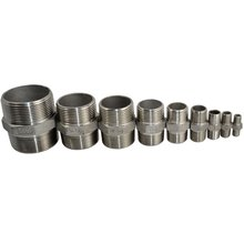 Male To Male Hex Nipple Stainless Steel 304 Threaded Pipe Fitting NPT(China)