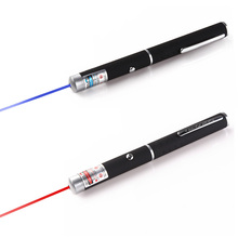 Powerful Red/Purple 2 Colors Laser Pointer Pen violet teaching presenter Beam Light High Power Hunting laser Sight device(China)