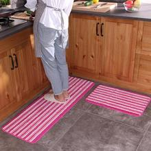 2pcs/set Kitchen Mat Set Bathroom Doormat Non-Slip Kitchen Carpet Bath Mat Home Entrance Floor Mats Hallway Area Rugs(China)