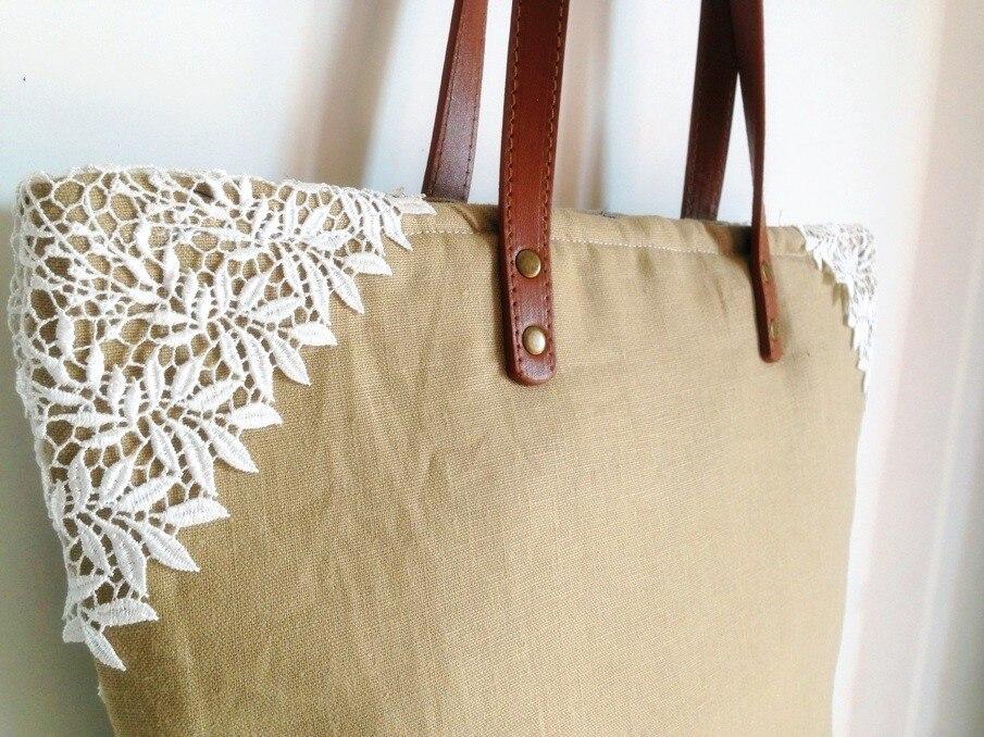 Women Shabby Chic Lace Handbags Handmade Jute Vintage Retro Wedding Crochet Canvas Lace Feminine Leather Handle Big Totes Bags<br><br>Aliexpress