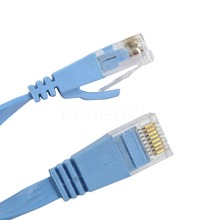 2015 2M 3M 5M 10M 15M CAT6 RJ45 Cable Flat UTP 10/100/1000Mbps Ethernet Network Cable Copper For Router DSL Modem