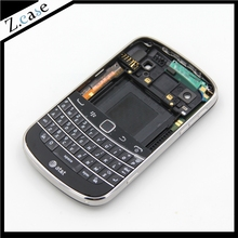 9900 New OEM Good Quality Full Housing Back Battery Case Cover+ Keypad For Blackberry Bold 9900 Black