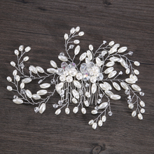Fashion Hair Jewelry Silver Imitation Pearl Rhinestones Wedding Hair Comb For Wedding Hair Accesories Bride Women Hair Jewelry(China)
