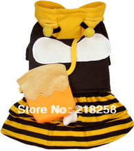 Retail  New Coming Small Bee Pet Dogs Coplay  Coat   Free Shipping By china post  new clothing for dog