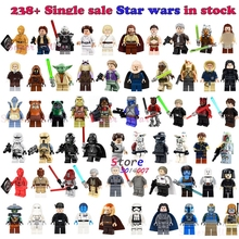 1Pcs Star wars Darth Vader Han Solo R2-D2 BB-8 clone trooper Stormtrooper Ewok action figure building blocks toys for children(China)