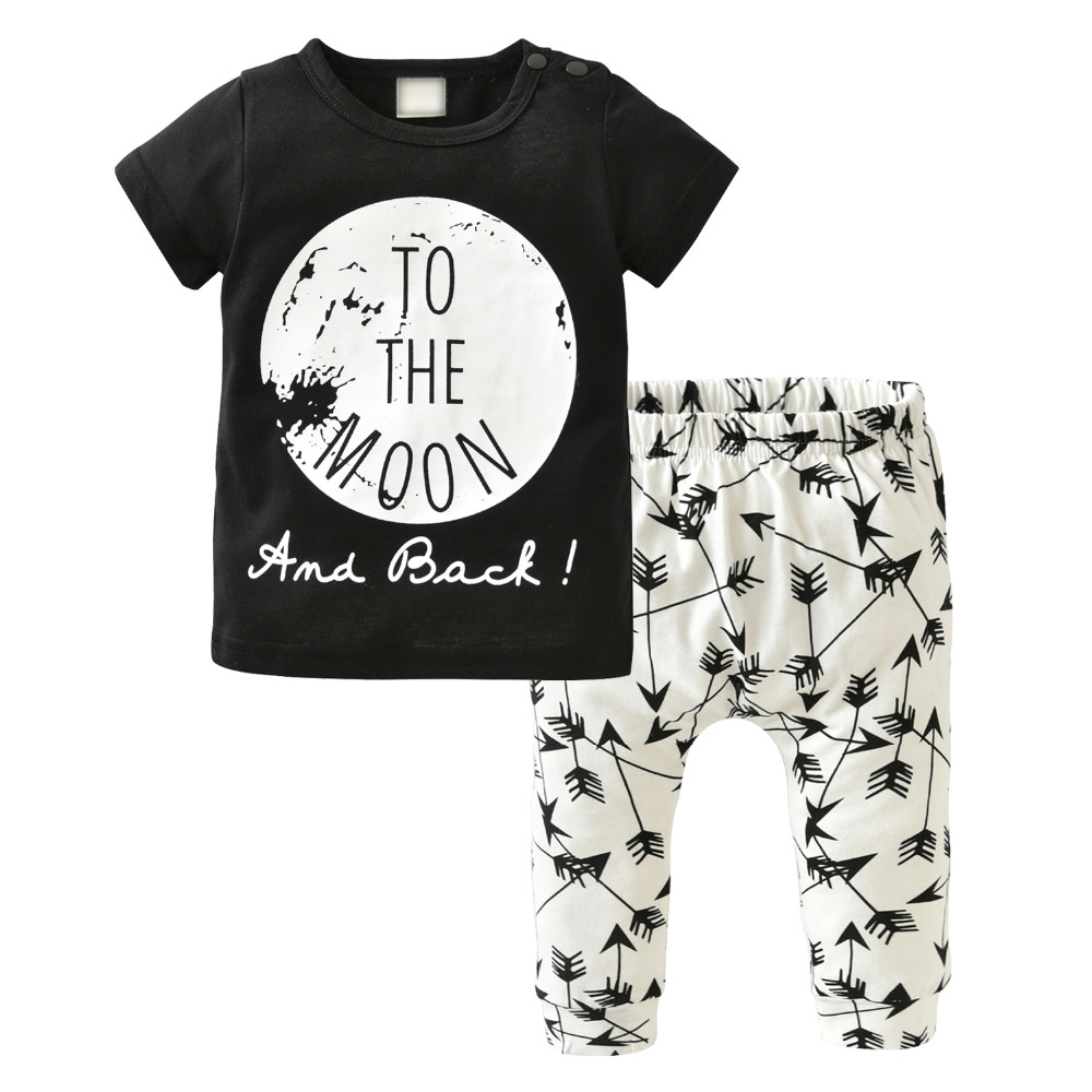 Baby Clothes Set,AutumnFall 2pcs Toddler Baby Boys Girls Dinosaur Print Tops+Long Pants Outfits Size:18M, Black