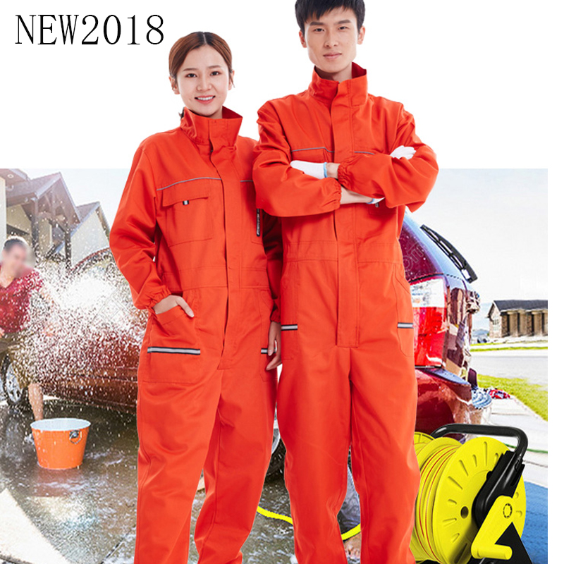 2017 Siamese Uniforms For Men And Women Oil Impermeable Stand-Collar Car Wash Repair Mechanic dirt Wear-Resistant Labor Uniforms<br>