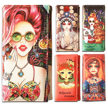 Fashion Women Wallets Brand Doll Design Lady Handbags Female Purses Woman Girls Clutch Coin Purse Cards Holder Wallet Burse Bags