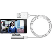 Sannysis Metal Magnetic Charging Cable W/LED For Sony Xperia Z3 / Z3 Compact Z2 Z1  fmobile USB phone cable high quality