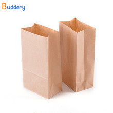50pcs Brown Kraft Paper Bags Food Small Gift Bags Sandwich Bread Bags Party Wedding Favour Paper Gift Bag(China)