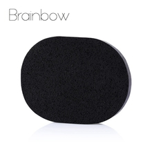 Brainbow 1 piece/box Makeup Sponge Bamboo Charcoal Washing Sponge Natural Facial Puff Facial Pore Cleaner Face Skin Care Tools